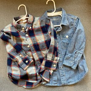 2 Gap button down shirts